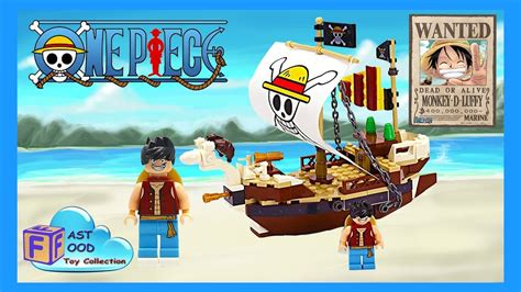 anime boat names lego one piece luffy s going merry pirate ship speed build