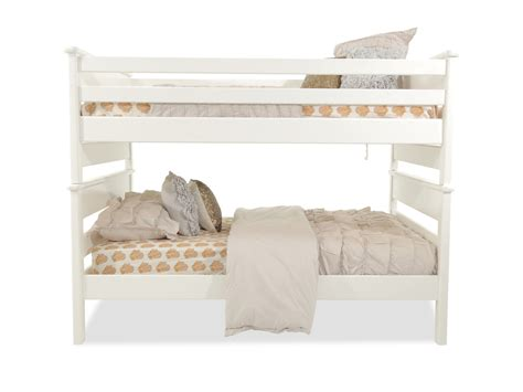 full bed bunk beds contemporary youth full over full bunk bed in white