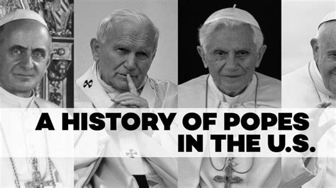 a history of popes in the u s video abc news