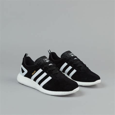 adidas x palace pro boost shoes black white gold flatspot