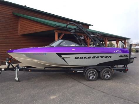 purple malibu boat for sale 2015 malibu wakesetter 22 vlx silver purple for sale in