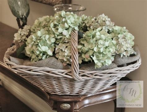 things new giving baskets a vintage look with chalk paint