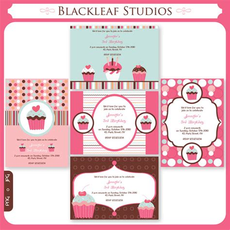 cupcake invitations template 5 best images of cupcakes invitations printables