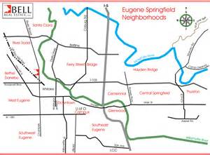 map of eugene oregon eugene springfield oregon real estate for sale