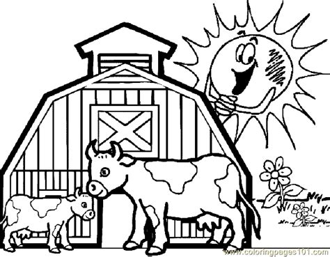 cow farm coloring page free coloring pages of dairy farm