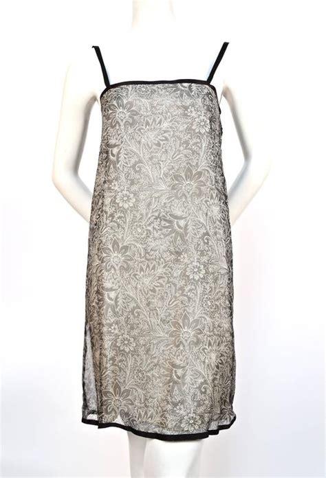 dsjt217111803543 dress kerah v chiffon motif floral 1978 yves laurent silk chiffon dress and skirt with