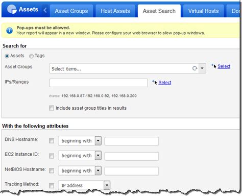Asset Search Tell Me About Asset Search Reports