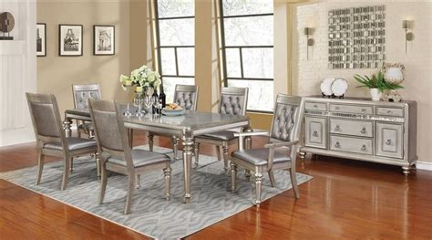 coaster  danette formal dining room set  leg table dallas designer furniture