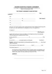 Shorthold Tenancy Agreement Template Free Download Assured Shorthold Tenancy Agreement Template Word