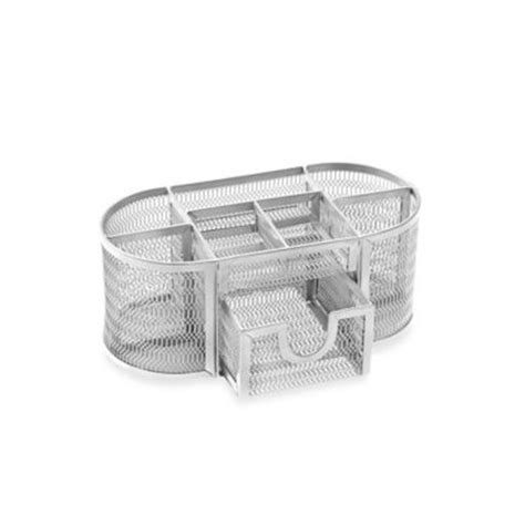 silver mesh desk accessories buy mesh oval desk organizer in black from bed bath beyond