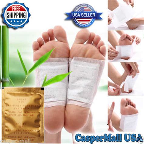 Kinoki Gold Cleanseng Detox Foot Pads 10 pcs gold premium kinoki detox foot pads organic herbal cleansing ebay