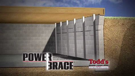 todds mudjacking powerbrace for cracked bowed basement