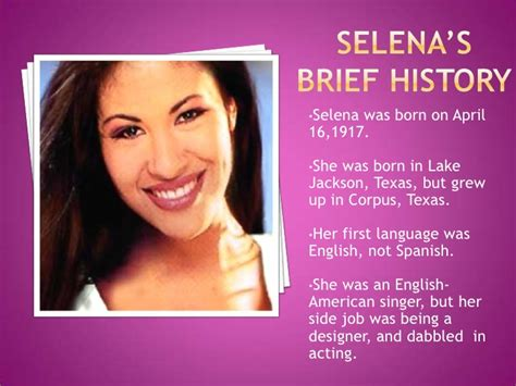 selena quintanilla biography in english selena biography