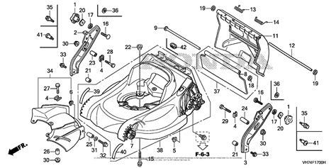 honda hrxk vkaa lawn mower usa vin maga  parts diagram  cutter housing