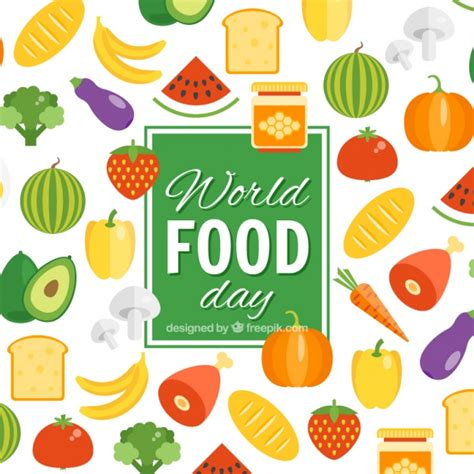 1 fruit a day background of world food day fruits and vegetables vector