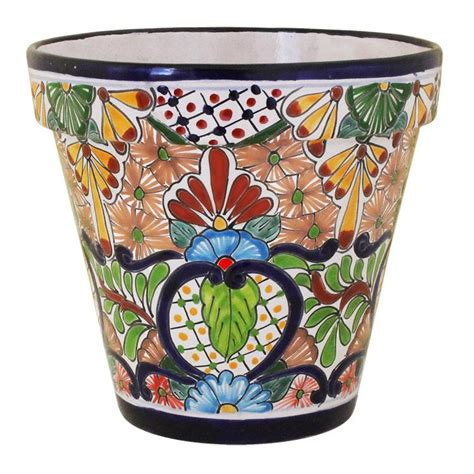 Mexican Planters Large by Talavera Planters Collection Talavera Planter Tp180
