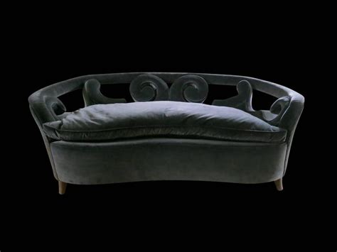 curved two seater sofa two seat curved italian mid century sofa for sale at 1stdibs