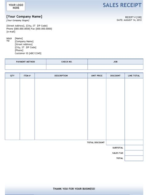 invoice template word doc receipts for offline clients warrior forum