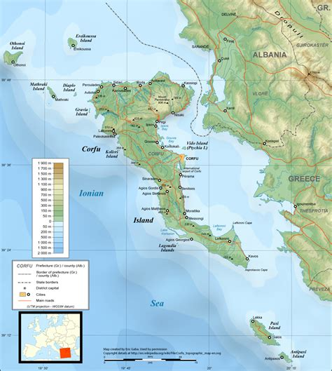 maps of corfu map