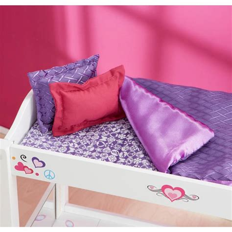 journey girls wood bed and desk combo dollation