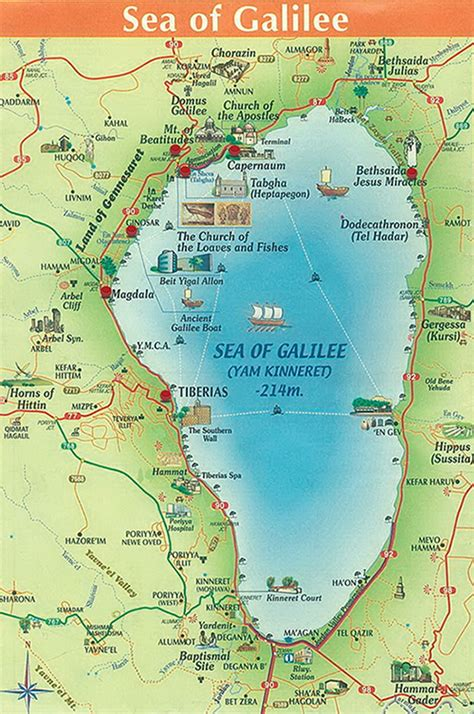 map of the sea maps of the sea of galilee israel bible and scriptures