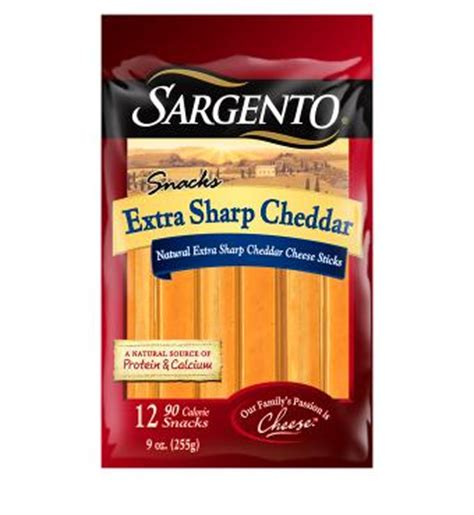 Bites 6m 50g Vegetables Flav sargento 174 sharp cheddar cheese sticks