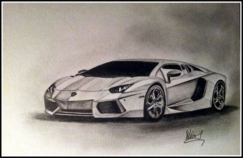 Lamborghini Drawing by Lamborghini Aventador Pencil Drawing My Artwork Pinterest