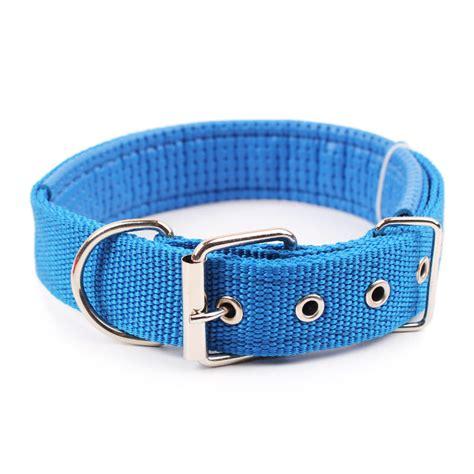 comfortable dog collar comfortable adjustable nylon dog collar red bule black green