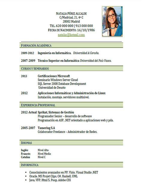 Plantilla De Un Curriculum Vitae En Ingles Ejemplos Y Plantillas De Curriculum En Ingl 233 S Trabajar En Inglaterra Cvexpres Page 9