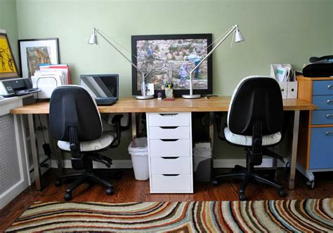 plans to build 2 person home office desk pdf plans