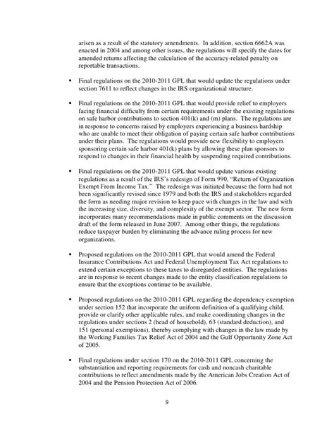 irs section 6662 department of the treasury preliminary regulatory reform plan