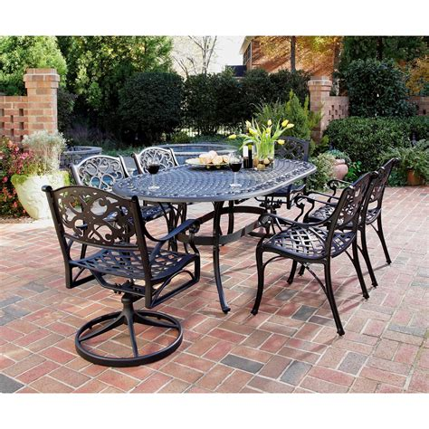 Outdoor Dining Sets Black Home Styles Black 7 Pc Outdoor Patio Dining Set The