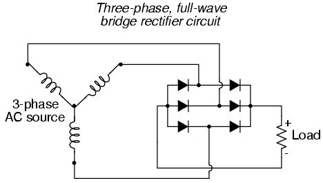 diodes if a standard three phase 400v ac connection is rectified what dc voltage comes out of