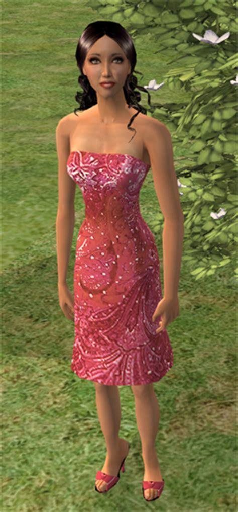 Alika Dress By Zhalfa mod the sims morea half polynesian