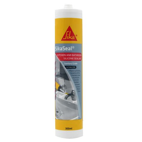 silicone bathroom caulk sika 300ml black sikaseal kitchen and bathroom silicone sealant