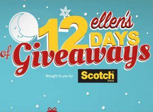 Ellen 12 Day Giveaway 2013 - online sweepstakes and contests
