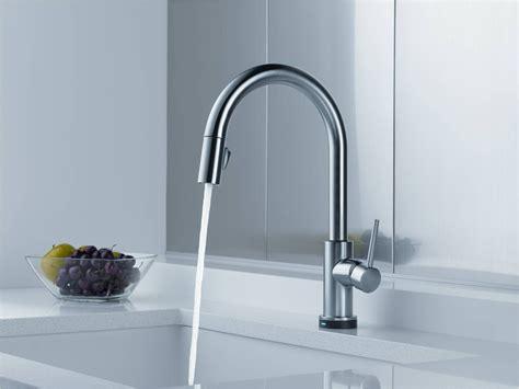 touch sensitive kitchen faucet delta touch sensor kitchen faucet
