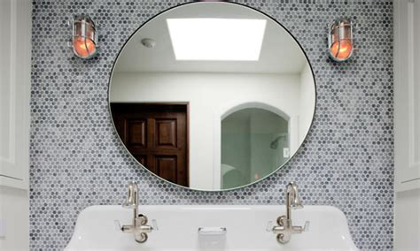 mirror bathroom tiles bathroom round mirrors round mosaic mirror tiles bathroom