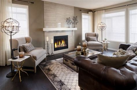 calgary home and interior design show give your living room an elegant look with a brown leather