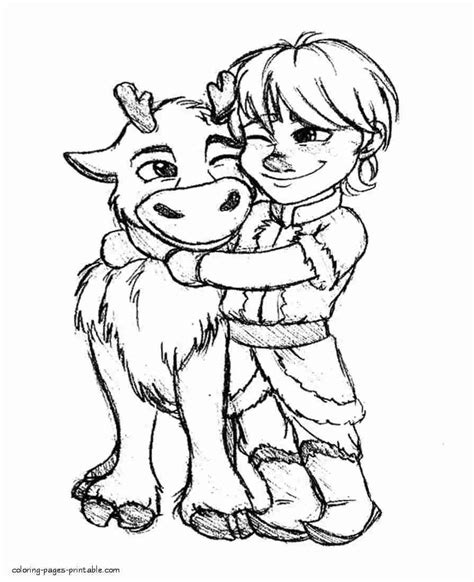 sven coloring page images