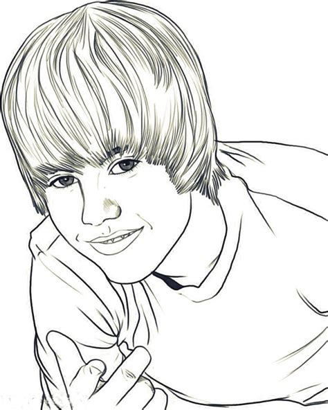 coloring page justin bieber justin bieber coloring coloring town