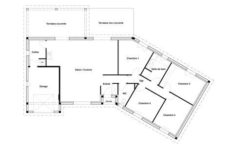 plan de maison 120m2 4 chambres prix maison toit plat 120m2 maison design j2 maison de
