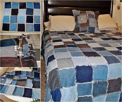 How To Make A Denim Quilt From by Diy Denim Rag Quilt From Pattern