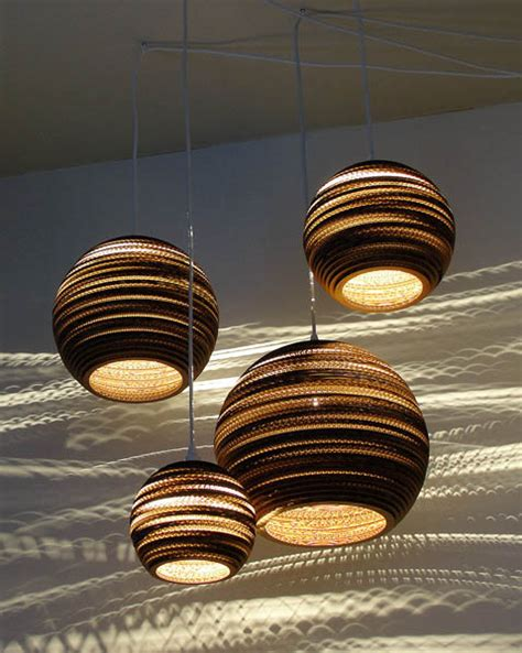 Pendant Light Fixtures Made Of Corrugated Paper Paper Lighting Fixtures