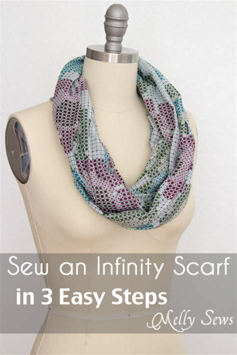 how to make a scarf into an infinity scarf how to make an infinity scarf in just 3 steps melly sews