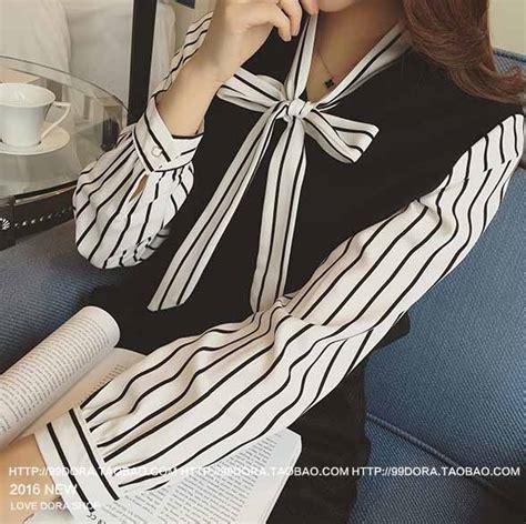 Baju Atasan Wanita Murah Atasan Korea Import Baju Kantor Vexana Baju Atasan Motif Garis Garis Cantik Model Terbaru