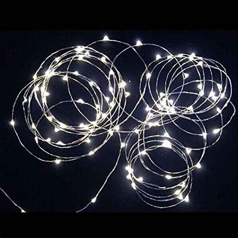 Sharpet 19 7 Ft Battery Operated Pure White Led String Tiny String Lights