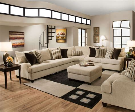 Simmons Trinidad Taupe Living Room Set Fabric Living Home Living Room Furniture