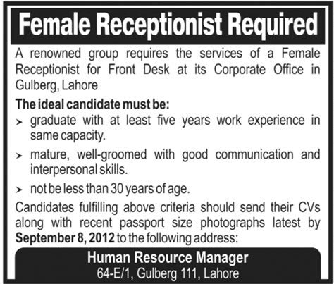 receptionist find or advertise jobs for free in toronto receptionist advert related keywords receptionist advert