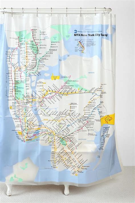 subway map shower curtain new york city subway shower curtain trips urban
